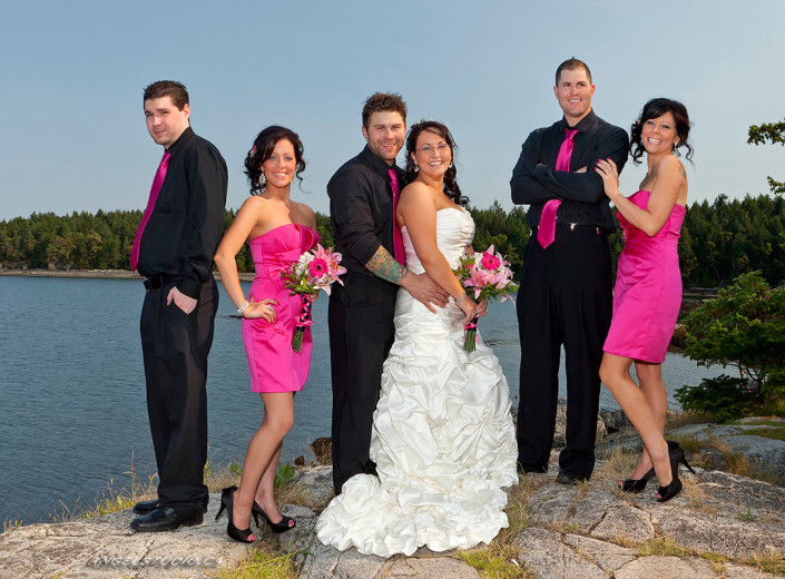 beach wedding, sunset wedding, wedding photography, wedding party
