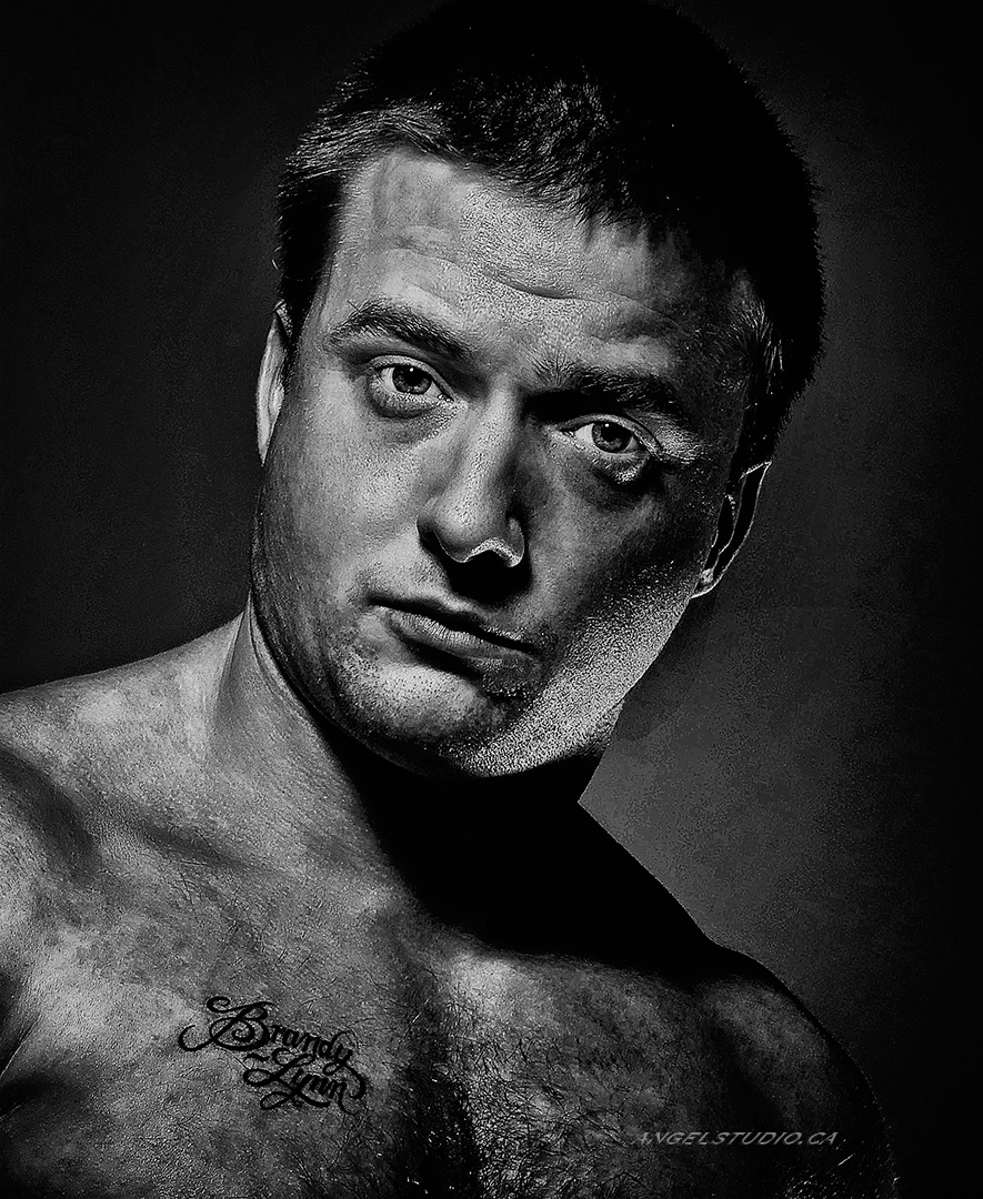 male glamour, studio glamour, male nude implied headshot, monochrome male glamour, b&w male glamour
