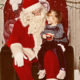 Little girl visits Santa Claus