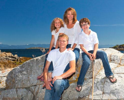 beach portrait, family portrait