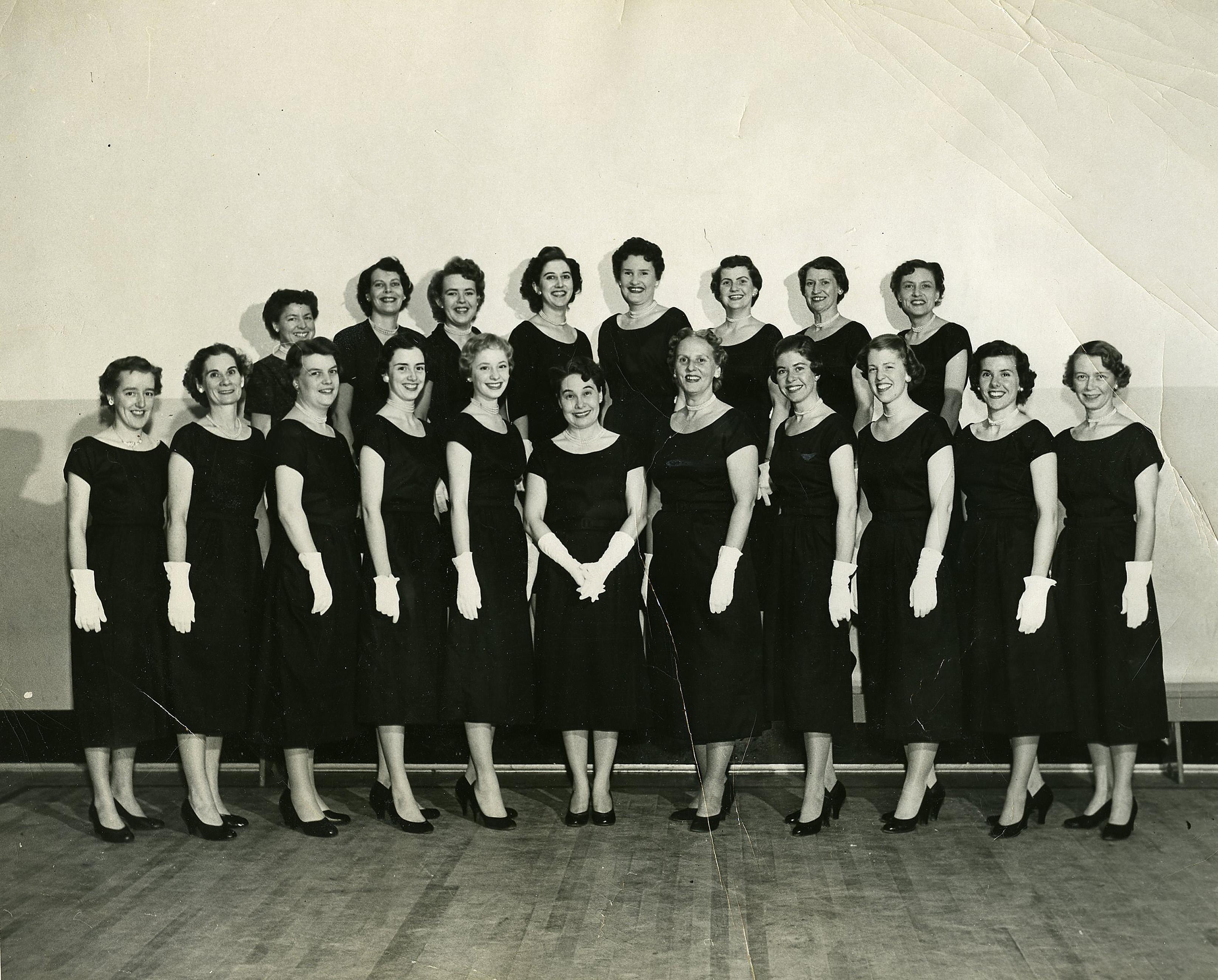 sweet adelines 1956 image restoration